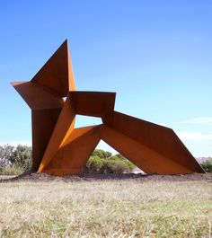 OUT, corten/weather steel sculpture at Sculpture by the Sea Sydney 2011