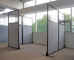 Looking for affordable cubicle walls? ✓ Shop our cube partition dividers & panels for sale now. We offer a warranty, find your cubicle solution here! Office Dividers, Office Decor, Office Organization, Office Chairs, Office Ideas, Office Furniture, Furniture Design, Space Dividers, Cubicle Walls