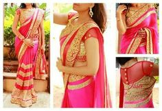 Beautiful saree and blouse by Issa Studio