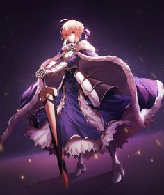 Anime picture with fate (series) fate/stay night saber avalon (fate/stay night) peulopi single tall image short hair looking at viewer blonde hair simple background fringe green eyes standing ahoge braid (braids) hair between eyes full body payot dark Anime Neko, Otaku Anime, Anime Art, Fate Zero, Female Characters, Anime Characters, Manga Japan, Character Art, Character Design