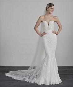 Ermin by Pronovias @ Wedding Atelier Pronovias Wedding Dress, Lace Mermaid Wedding Dress, Mermaid Gown, Mermaid Dresses, Bridal Dresses, Wedding Gowns, Wedding Flowers, Allure Bridal, Vows Bridal