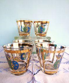 Georges Briard Glassware  Forbidden Fruit by AmeliaRoseVintage