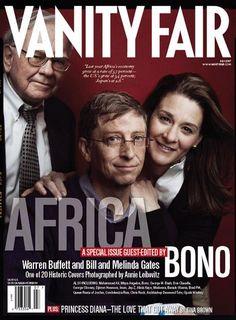 Warren Buffett and Bill and Melinda Gates #VanityFair #AfricaIssue