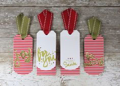 Folded Christmas Tags Set by Laurie Willison for Papertrey Ink (October 2015)