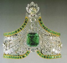 Emerald bracelet from the Russian crown jewels