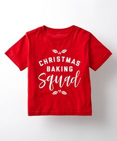 Red 'Christmas Baking Squad' Tee - Toddler & Kids