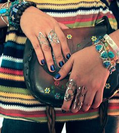 Statement rings. Particularly love the 'Star' ring.