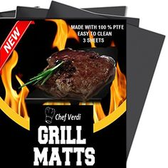 "Non Stick BBQ Grill Mats Oven Liner Baking Mat, Pack of 3 Reusable 16"" x 13\"" Dishwasher Safe Cooking Mats -- Visit the image link more details."