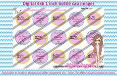 1' Bottle caps (4x6) head start school theme C1278