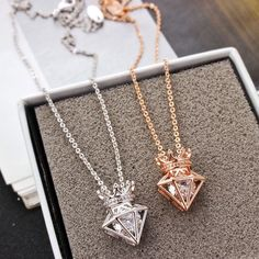 Finally! I found the New Rose Gold Short Chain Zircon Crown Diamond Pendant Necklace from ByGoods.com. I like it so so much!