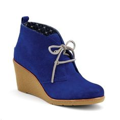 Sperry Top Sider Harlow Wedge Bootie In suede blue cobalt. Size 7. Barely used. Will post my own pics soon Sperry Top-Sider Shoes