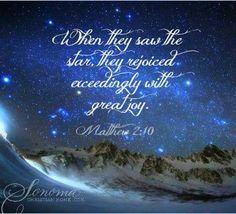 Wondrous joy!  The star shines and the Saviour is born!