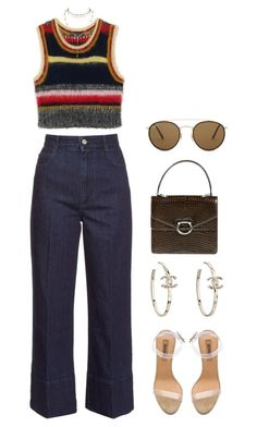A fashion look from June 2017 featuring high rise jeans, lucite shoes and man bag. Browse and shop related looks. 70s Outfits, Hippie Outfits, Mode Outfits, Cute Casual Outfits, Vintage Outfits, Fashion Outfits, 70s Inspired Fashion, 70s Fashion, Look Fashion
