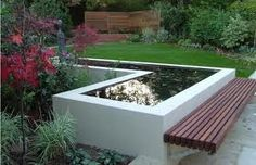 Image result for timber seating around planter edge