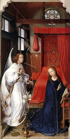 Santa Columba altarpiece. Left panel. Rogier van der Weyden