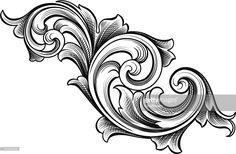 ベクトルアート : Flowing Scrolls