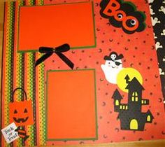 A Halloween Scrapbook page (12x12). Another very cute page for celebrating Halloween at Disney. The girls will have a boo-tiful Halloween section in their scrapbook #Cricut