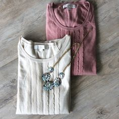 (2pc) LOFT BY ANN TAYLOR Pre-Made Bundle Perfect sweaters for jeans or dress slacks! Get two for the price of one in this beautiful, light sweater bundle. LOFT Sweaters