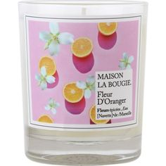 MAISON LA BOUGIE Orange blossom scented candle ($49) ❤ liked on Polyvore featuring home, home decor, candles & candleholders, citrus candles, scented candles, floral home decor, orange blossom candle and orange blossom scented candles