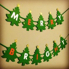 Items similar to Christmas sign/banner. Merry and Bright banner on Etsy Christmas Present Wrap, Christmas Ornament Crafts, Christmas Banners, Christmas Signs, Christmas Presents, Christmas Time, Christmas Decorations, Xmas, Cute Crafts
