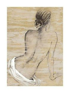 Retreat I Arte por Saro en AllPosters. Figurative Art, Female Art, Painting & Drawing, Art Drawings, Art Projects, My Arts, Sketches, Fine Art, Art Prints