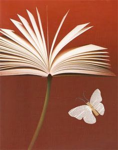 book and butterfly