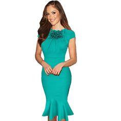 Women Summer Office Dress   fashjourney.com