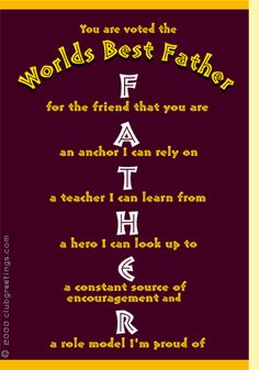 """FATHERHOOD is a VERY IMPORTANT  """"It is easier to raise strong children than repair broken men."""""""