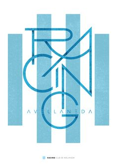 Racing Club of Argentina wallpaper. Typography Quotes, Typography Letters, Graphic Design Typography, Graphic Design Illustration, Hand Lettering, Branding Design, Club, Soccer Art, Ex Machina