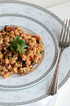 Bean and Barley Salad - made this for dinner and Nate and I both liked it!  I didn't follow recipe exact....but loved our combo