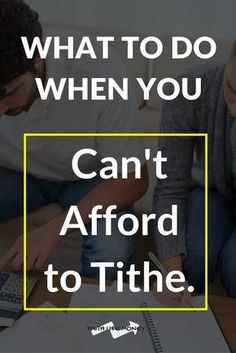 What to do when you can't afford to tithe