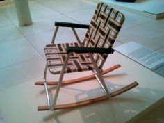Rocking deckchair at Ghent Design Museum in Belgium by Karen V Bryan, via Flickr