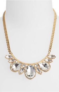 Crystal bib necklaces. So gorgeous! And on sale for only $29.99 http://rstyle.me/n/dgdt5n2bn