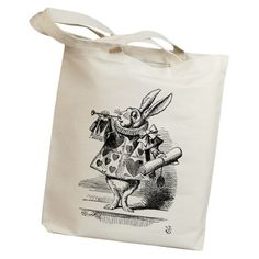 "Idiopix Adult Alice in Wonderland Rabbit Horn Canvas Tote Bag 15"" X 14"" X 2"" Natural Idiopix,http://www.amazon.com/dp/B00FBI42I2/ref=cm_sw_r_pi_dp_zWUatb1M7XYEG9FR"