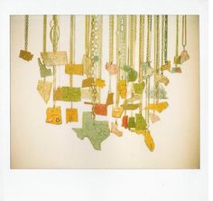 state map necklaces