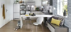 Bucătărie LUMINA by IXINA - Bucătării și Electrocasnice Corner Desk, Kitchen Design, Design Inspiration, Table, Furniture, Home Decor, Corner Table, Decoration Home, Design Of Kitchen