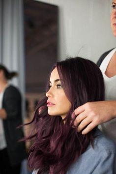 -Trendy Hair Color Plum Black Purple Ideas Trendy Hair Color Plum Black Purple Ideas See it Burgundy Hair Dye, Plum Hair, Red Brown Hair, Hair Color Purple, Subtle Purple Hair, Maroon Hair, Purple Wig, Purple Ombre, Pastel Purple