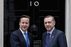 <> at 10 Downing Street on July 27, 2012 in London, England.