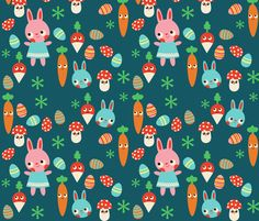 The Easter Bunny fabric by heidikenney on Spoonflower - custom fabric