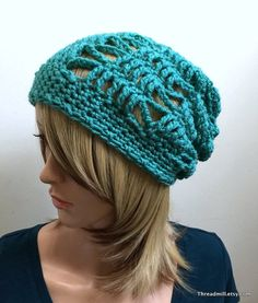 The Patina Slouchy Hat  All Season Open Stitch by Threadmill