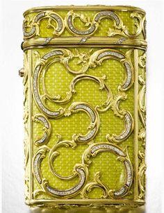 Fabergé jewelled gold and enamel cigarette case, Workmaster Michael Perchin, St Petersburg, 1899-1903.