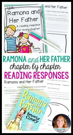 Students love Ramona Quimby novel studies! These activities take your readers through each chapter of Ramona and Her Father! The reading responses are aligned to the Common Core, fun, rigorous, and easy to implement in your elementary classroom! Use them small group, whole group, with reader's notebooks, and in literature circles.