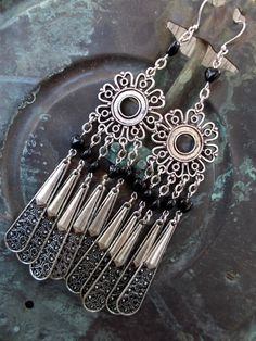For the Love of Black Betty Earrings by Desert Hippie Originals on Etsy, $18.00