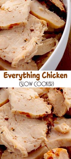 Slow cooker everything chicken cooking for 2 Crock Pot Recipes, Crock Pot Food, Crockpot Dishes, Slow Cook Chicken Recipes, Slow Cooker Chicken Healthy, Slow Cooked Chicken, Slow Cooker Huhn, Crock Pot Slow Cooker, Pressure Cooker Recipes