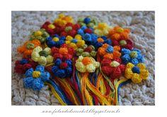 flor crochê 5 pétalas pipoca com miolo puff - Cristina Tonin - Álbuns da web do Picasa