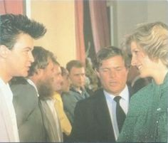 June 8 1984 Charles & Diana attend a Rock Gala in aid of the Prince's Trust, Royal Albert Hall, London