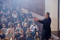 Ahead of Doctor Who's Season 10 debut this weekend, BBC America has unleashed a batch of intriguing new images from the premiere episode. Peter Capaldi Doctor Who, New Doctor Who, 12th Doctor, Twelfth Doctor, First Doctor, Lecture Theatre, Doctor Picture, The Mindy Project, Bbc America