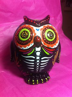 Day of the dead owl by Dulcecalaveritas on Etsy, $18.00
