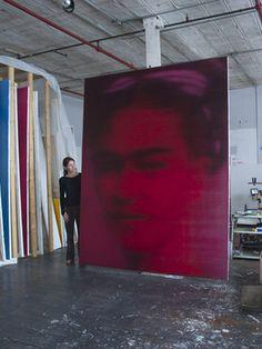 Alison Van Pelt with Frida Kahlo, oil on canvas, 9ft x 7ft