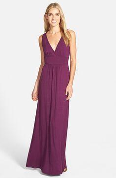 LOVEAPPELLA V-Neck Jersey Maxi Dress (Regular & Petite) available at #Nordstrom Beach wedding